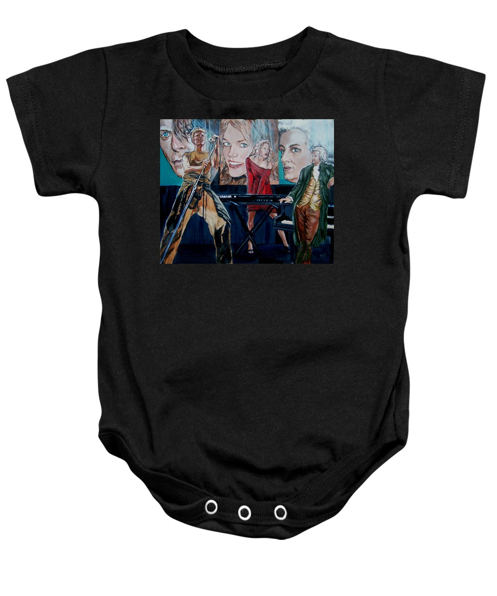 Christine Anderson Baby Onesie featuring the painting Christine Anderson Concert Fantasy by Bryan Bustard
