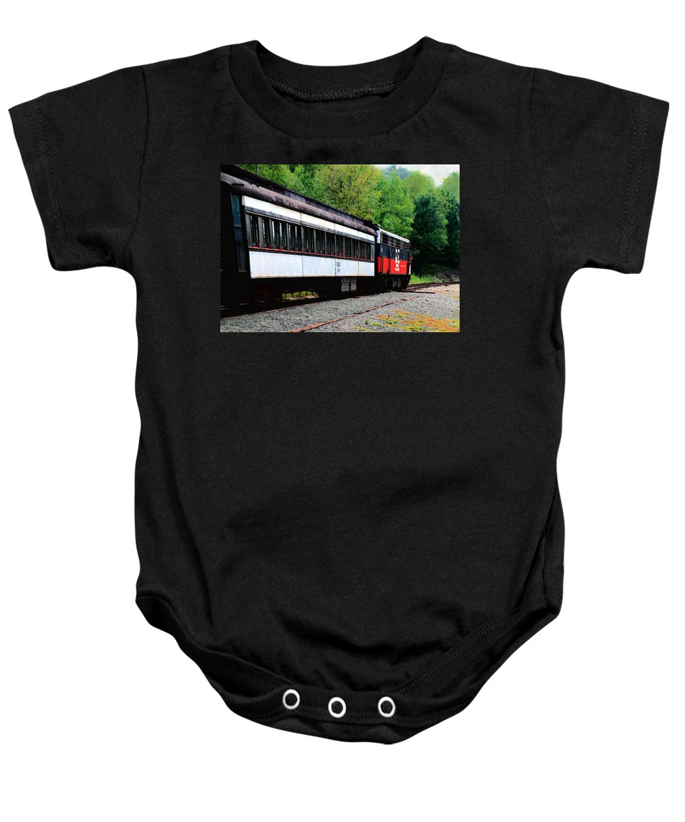 Train Baby Onesie featuring the photograph Chugging Along by RC DeWinter
