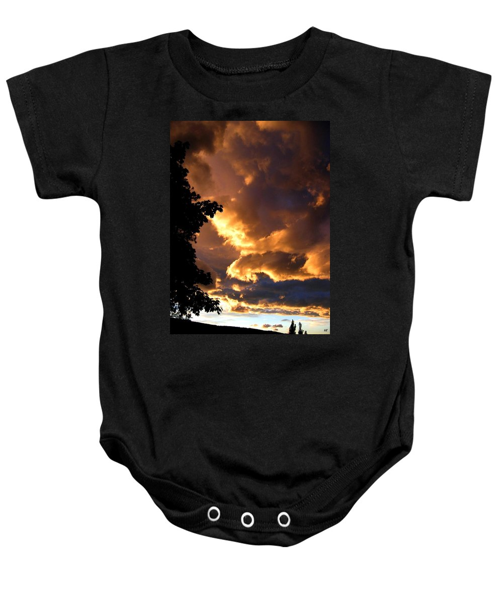 Sunset Baby Onesie featuring the photograph Churning Clouds 2 by Will Borden