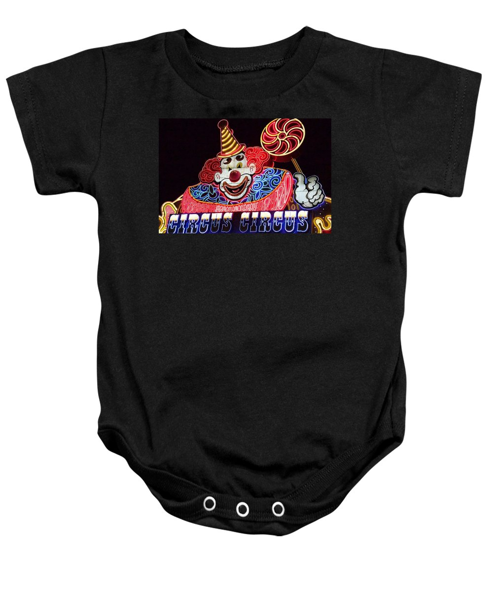 Alicegipsonphotographs Baby Onesie featuring the photograph Circus Neons by Alice Gipson