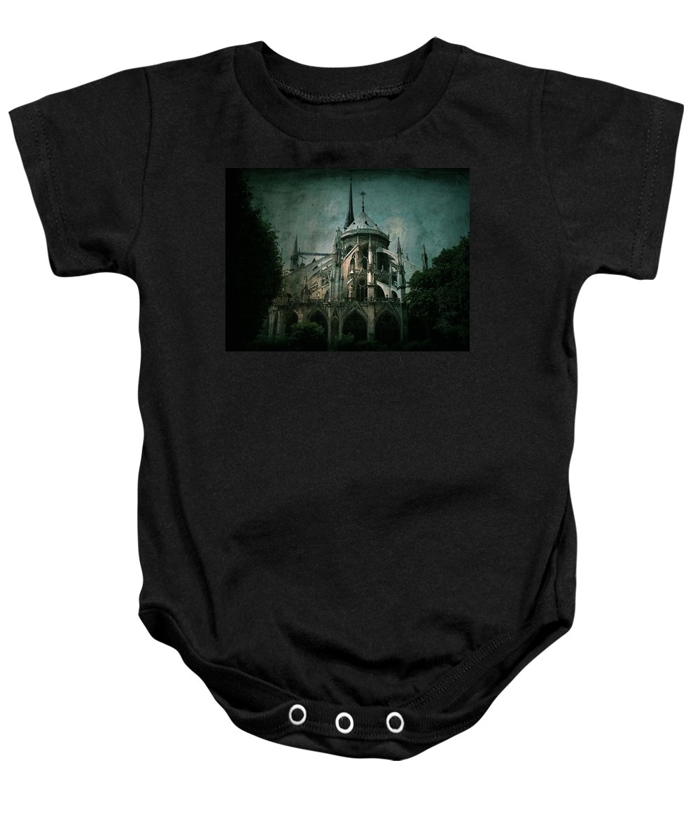 Notre Dame Baby Onesie featuring the photograph Citadel by Andrew Paranavitana