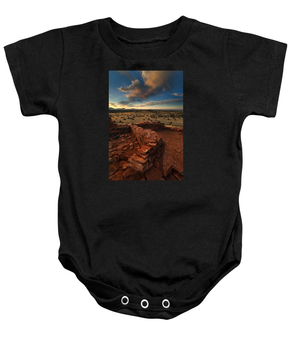 Citadel Baby Onesie featuring the photograph Citadel Walls by Mike Dawson