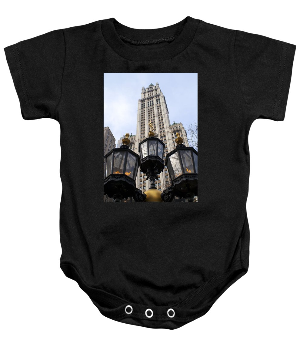 Nyc Baby Onesie featuring the photograph City Hall Area Nyc by Henri Irizarri