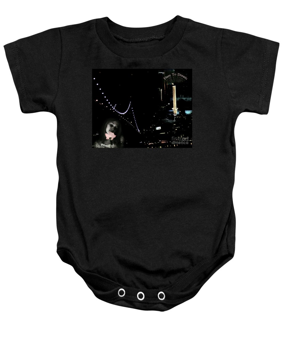 City Baby Onesie featuring the photograph City Of Dreams by Madeline Ellis
