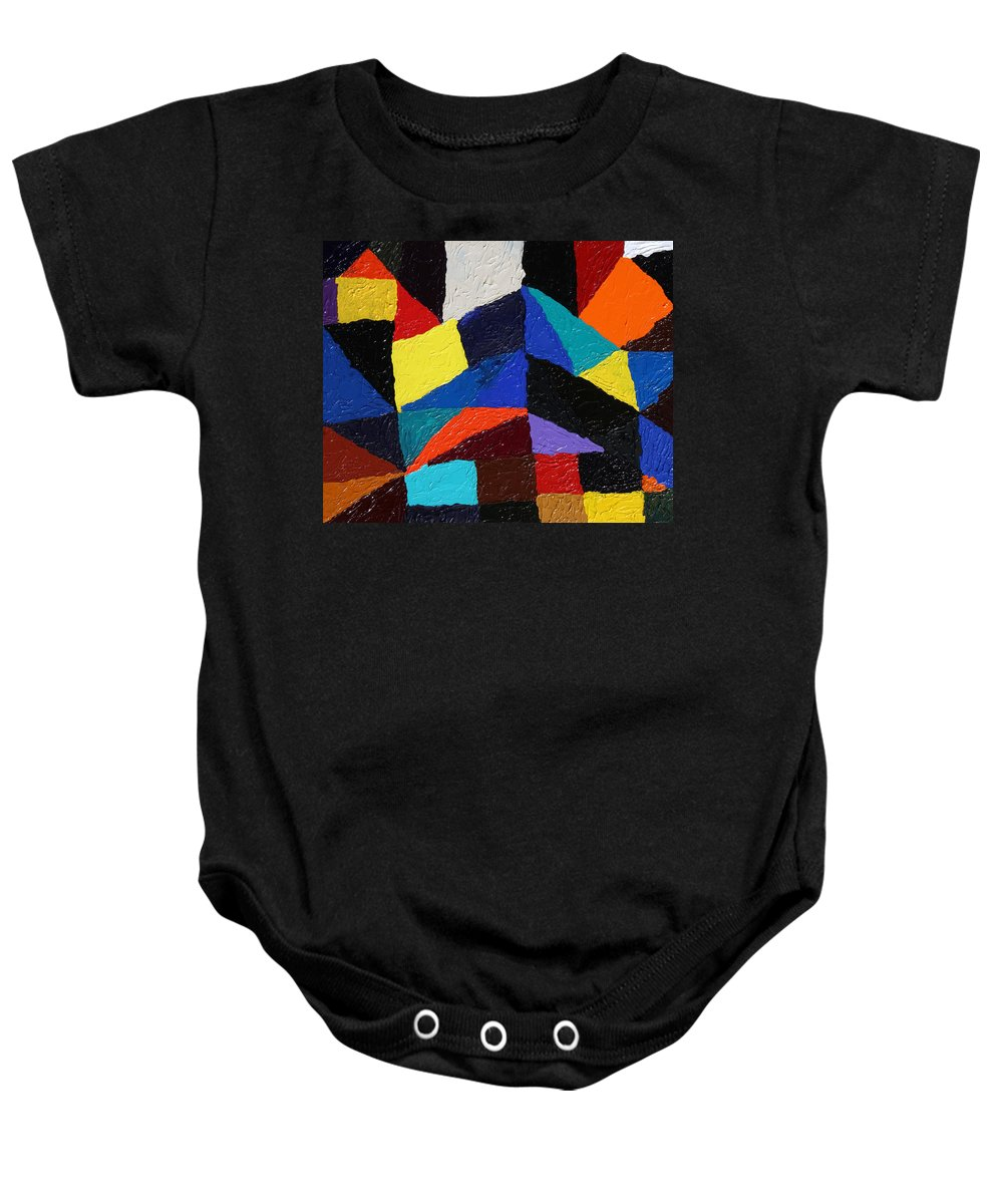 Fusionart Baby Onesie featuring the painting Cityscape by Ralph White