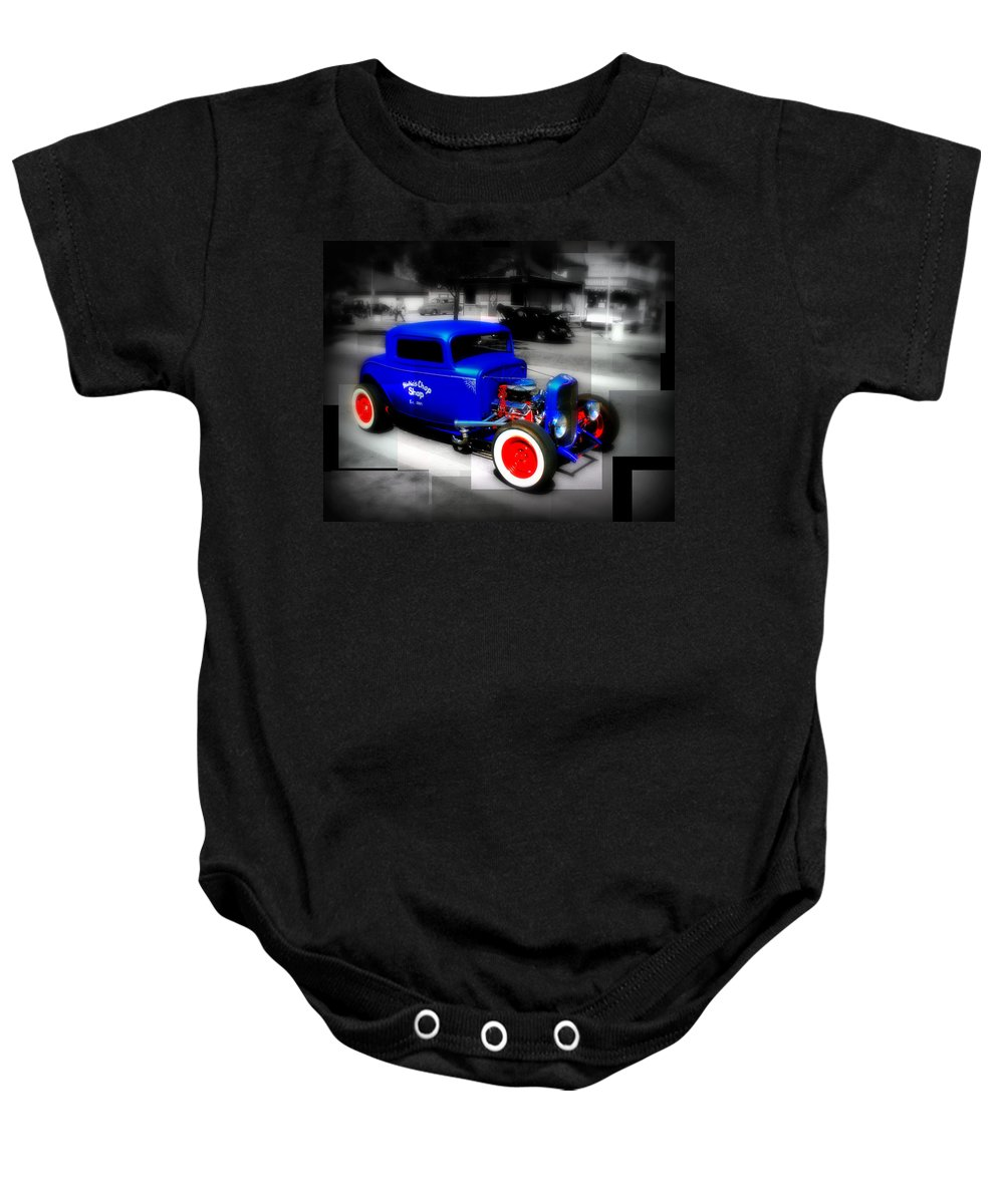 Car Baby Onesie featuring the photograph Classic Blue by Perry Webster