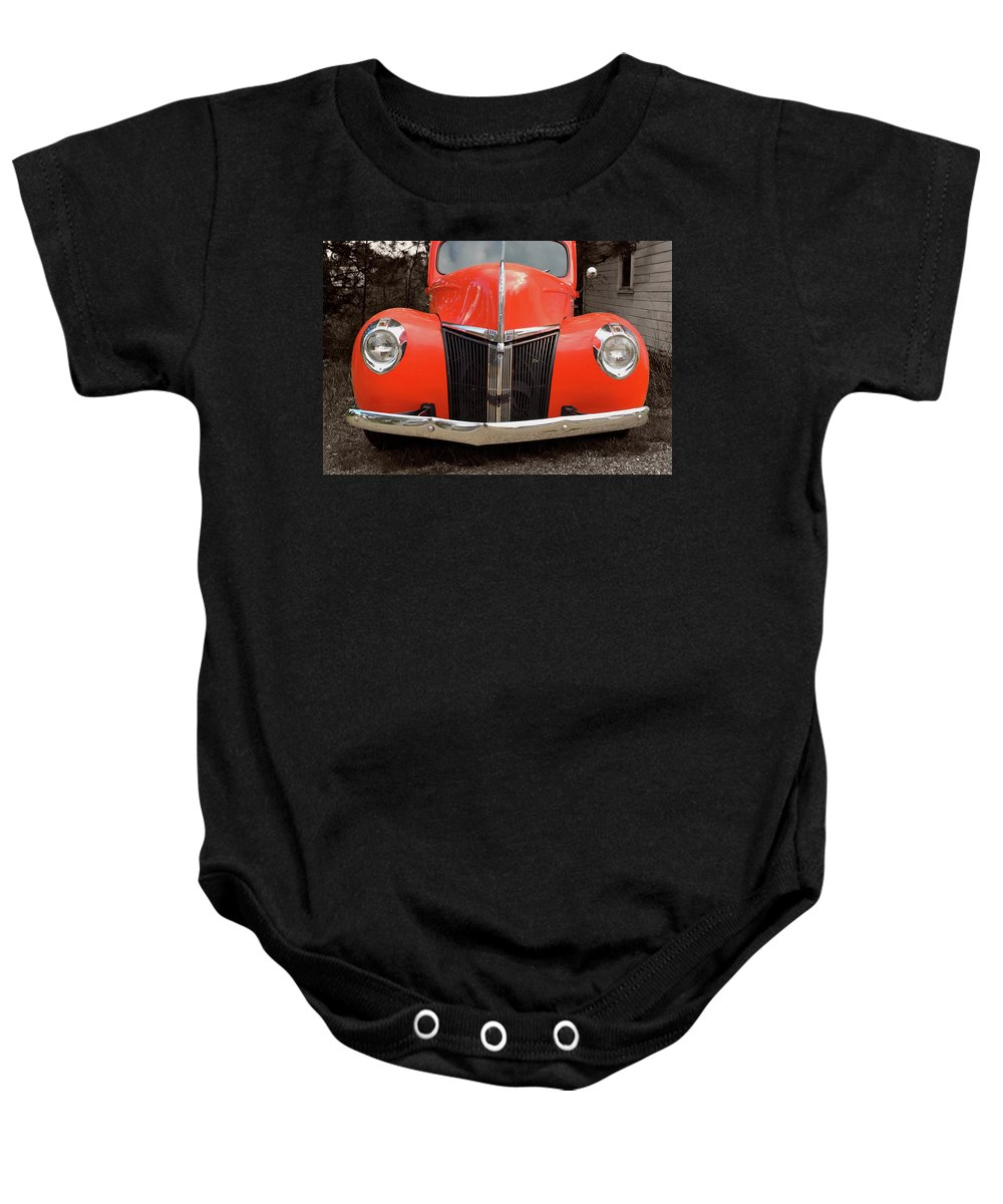 Classic Car Baby Onesie featuring the photograph Classic Pick Up Truck by Herman Robert