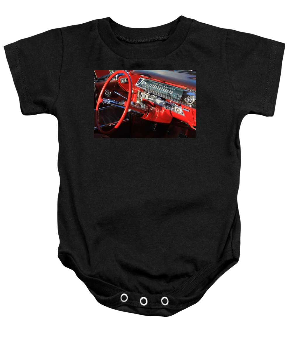 Red Baby Onesie featuring the photograph Classic Red by Robert Pearson