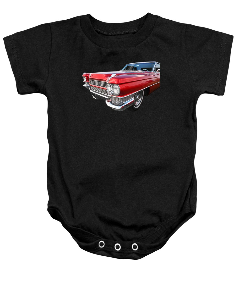 Cadillac Baby Onesie featuring the photograph Classy - '64 Cadillac by Gill Billington