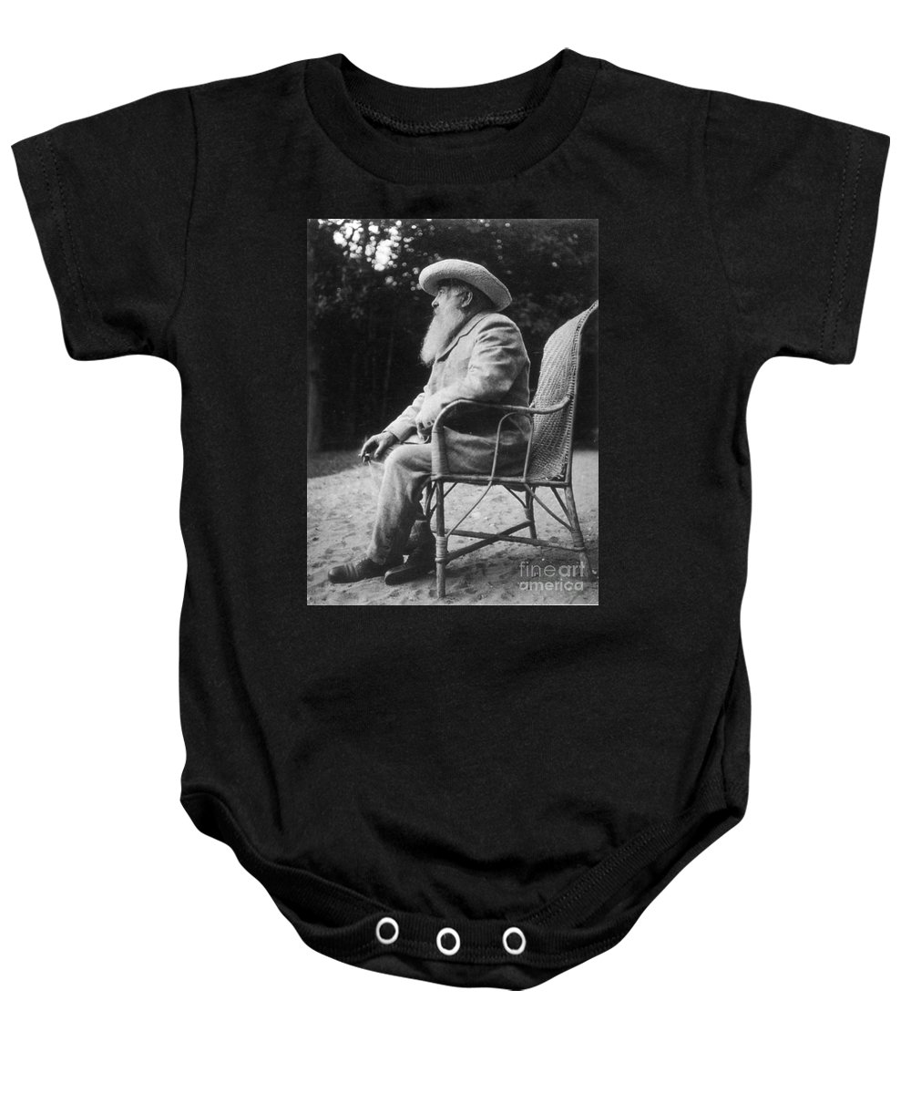 20th Century Baby Onesie featuring the photograph Claude Monet (1840-1926) by Granger