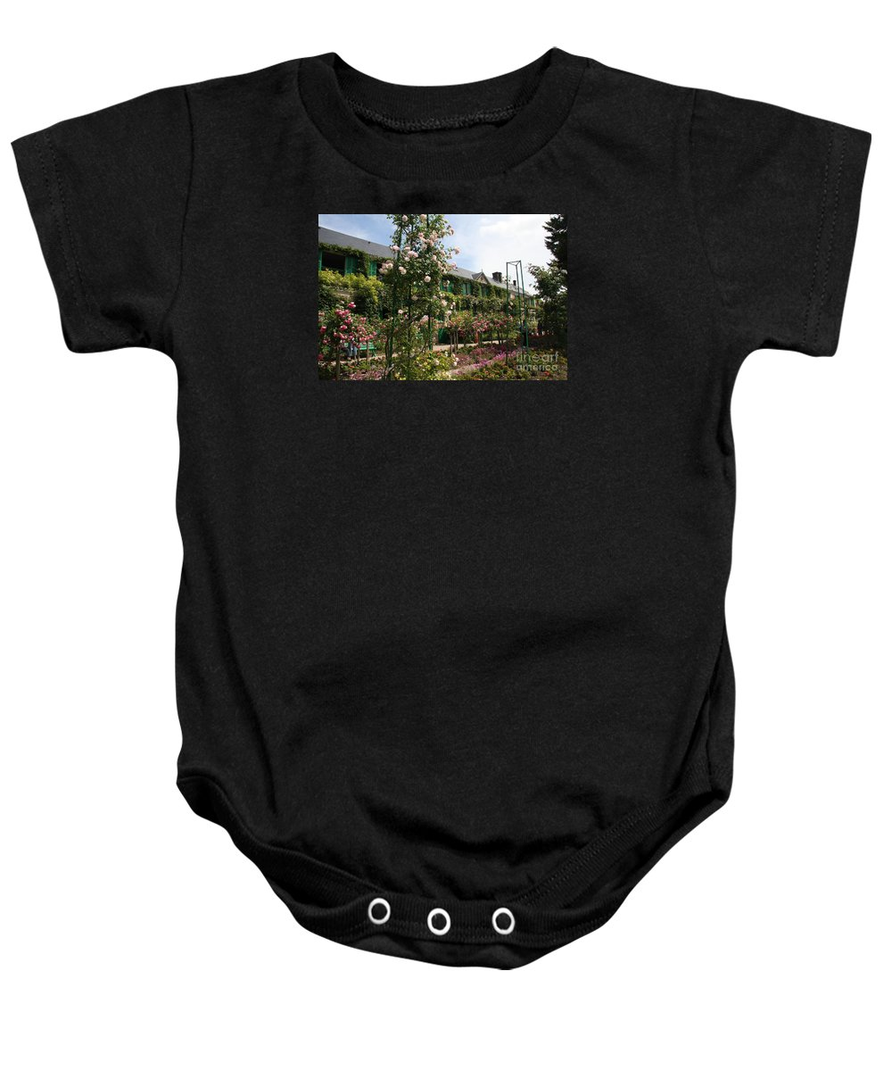 Monet Baby Onesie featuring the photograph Claude Monets House - Giverney - France by Christiane Schulze Art And Photography