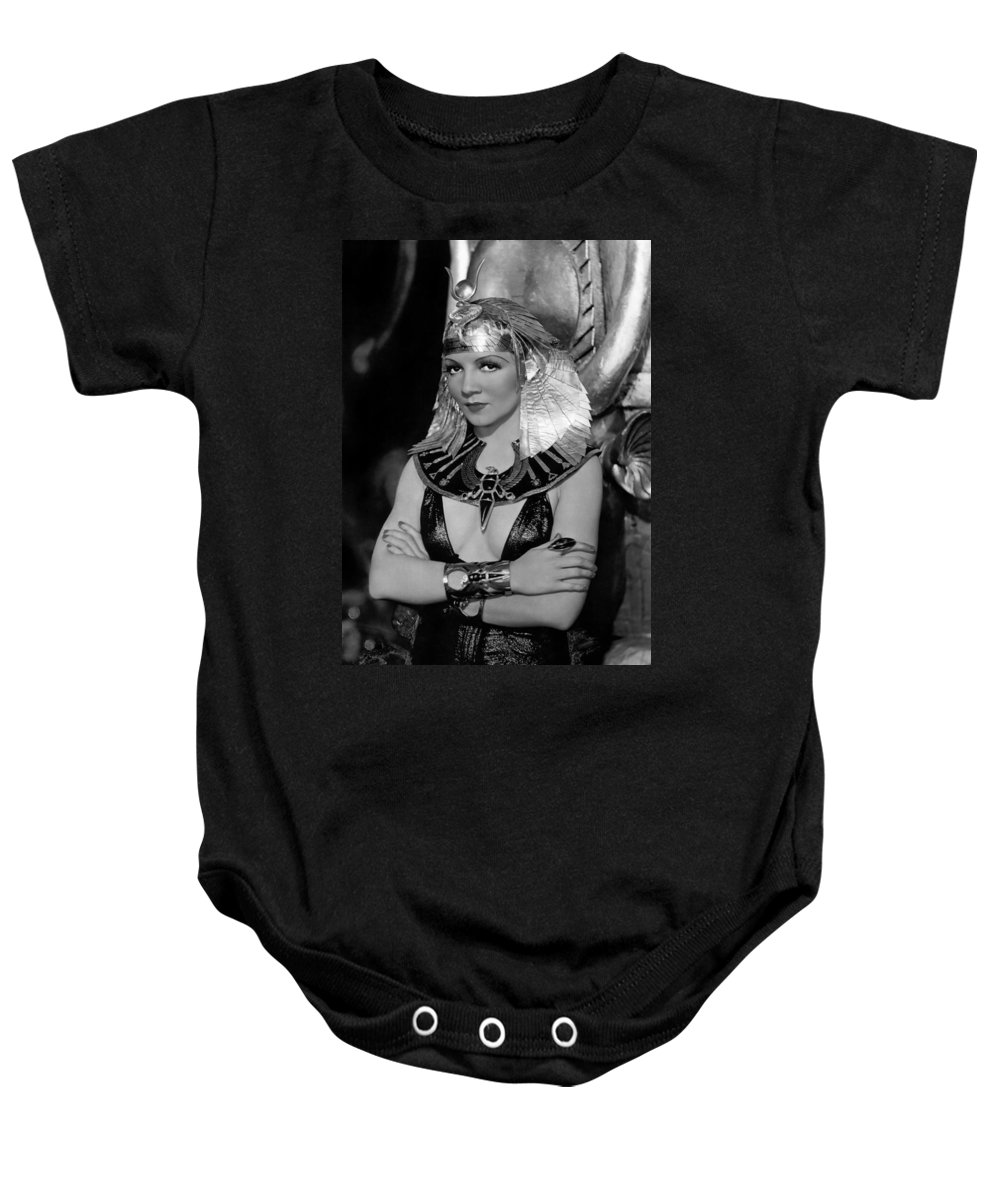 Publicity Photo Baby Onesie featuring the photograph Claudette Colbert In Cleopatra 1934 by Mountain Dreams