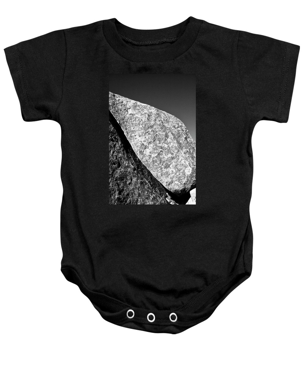 Joshua Tree Baby Onesie featuring the photograph Cleft by William Dey