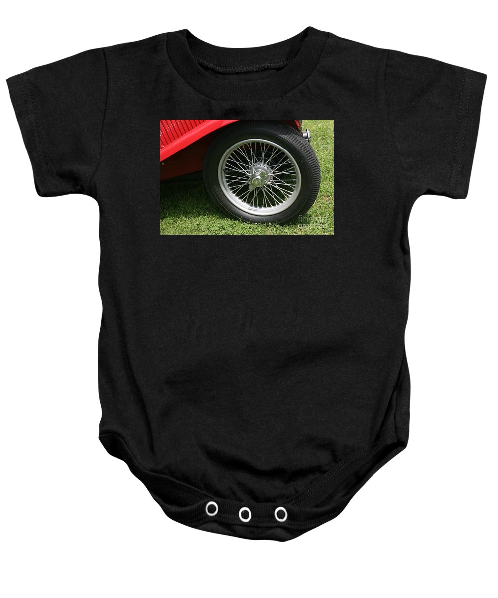 Car Baby Onesie featuring the photograph Close-up Of Past by Dawn Downour