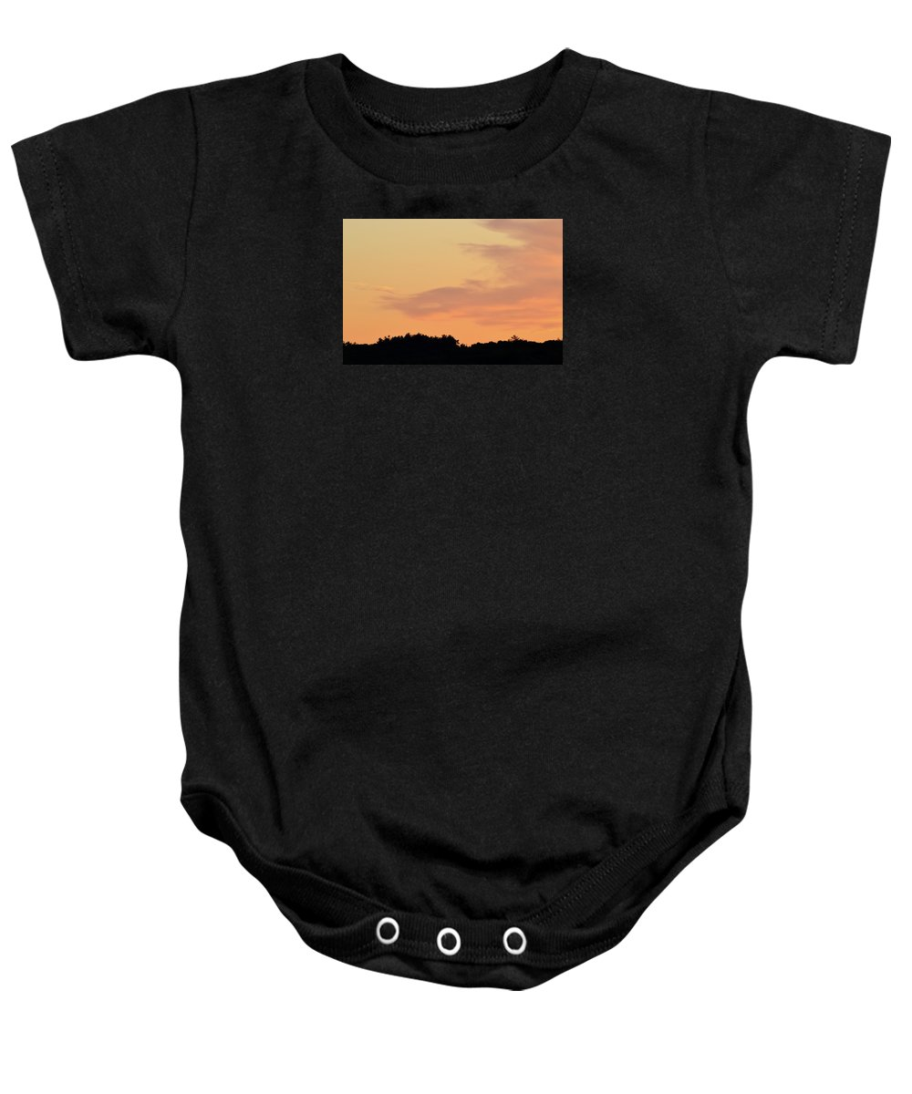 Abstract Baby Onesie featuring the photograph Cloud Edge Over The Trees by Lyle Crump