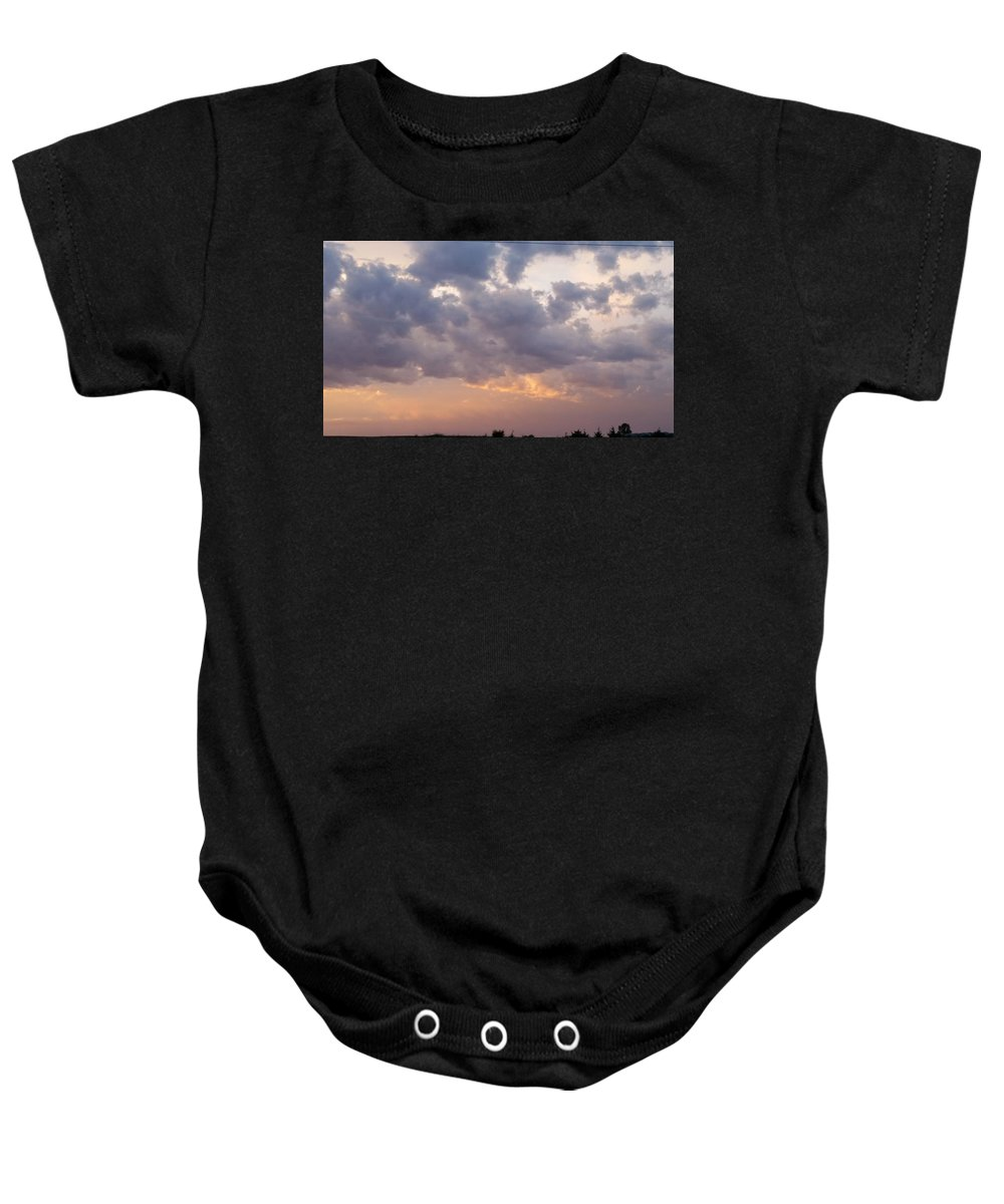 Clouds Baby Onesie featuring the photograph Clouds by Olivia Hamner