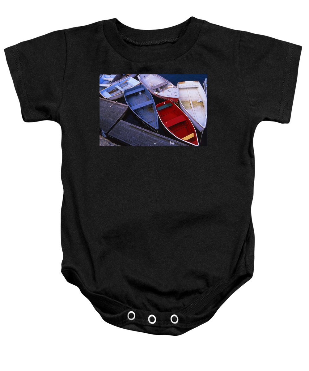 Landscape New England Boat Fishing Nautical Coast Baby Onesie featuring the photograph Cnrf0906 by Henry Butz