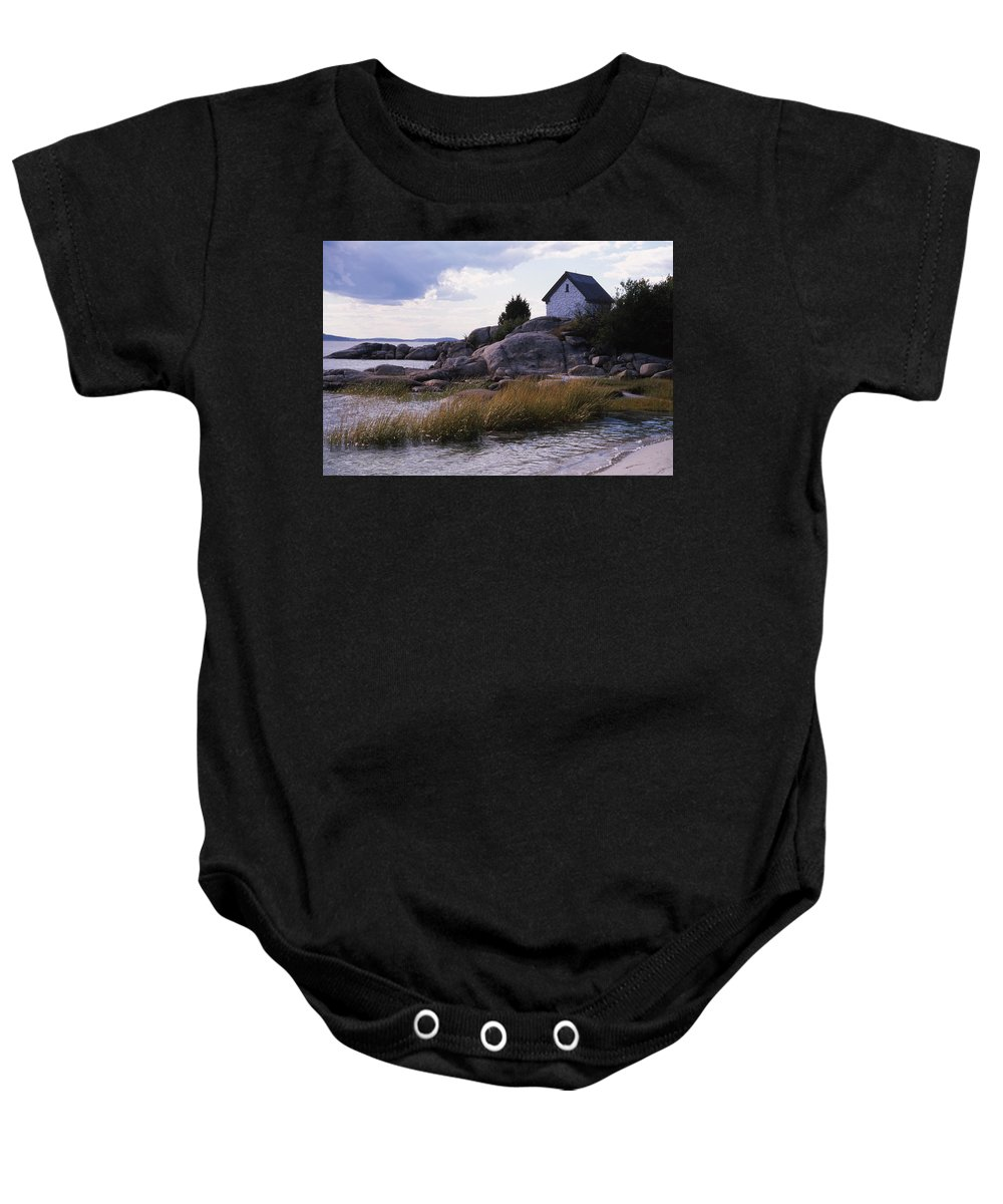 Landscape Beach Storm Baby Onesie featuring the photograph Cnrf0909 by Henry Butz