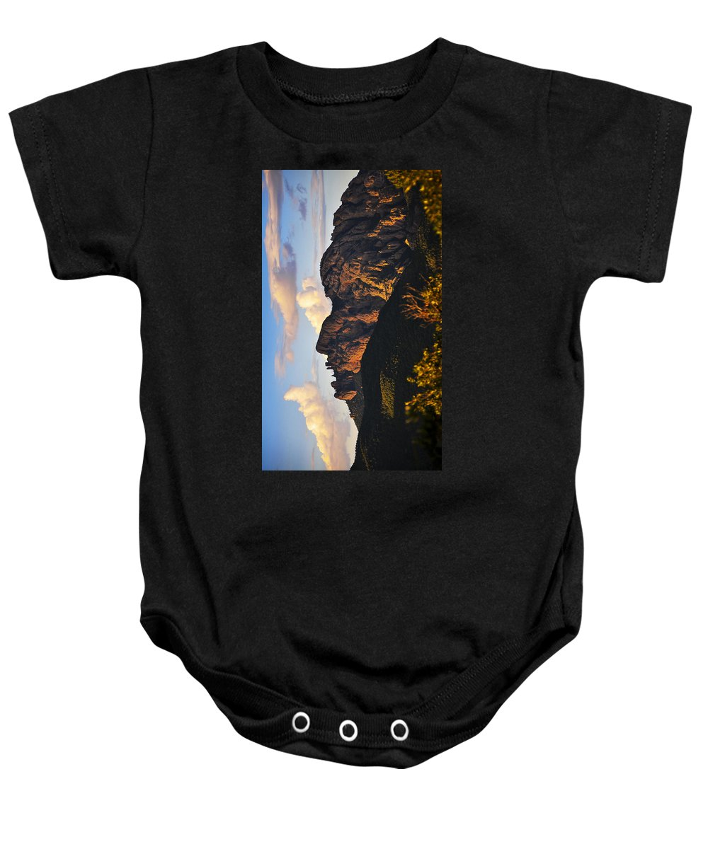 Cochise Head Baby Onesie featuring the photograph Cochise Head by Skip Hunt