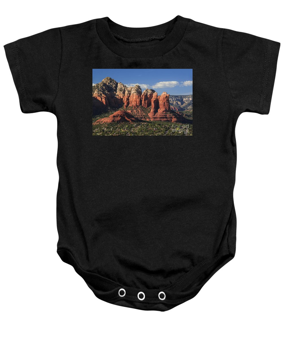 Coffee Pot Rock Baby Onesie featuring the photograph Coffee Pot Rock by Yefim Bam