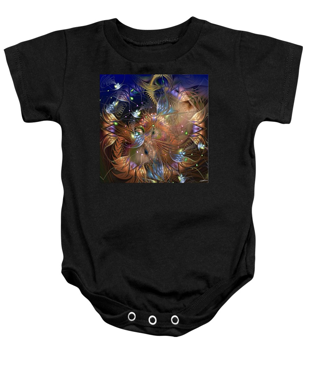 Fractal Baby Onesie featuring the digital art Cognitive Dissonance Resolved by Casey Kotas