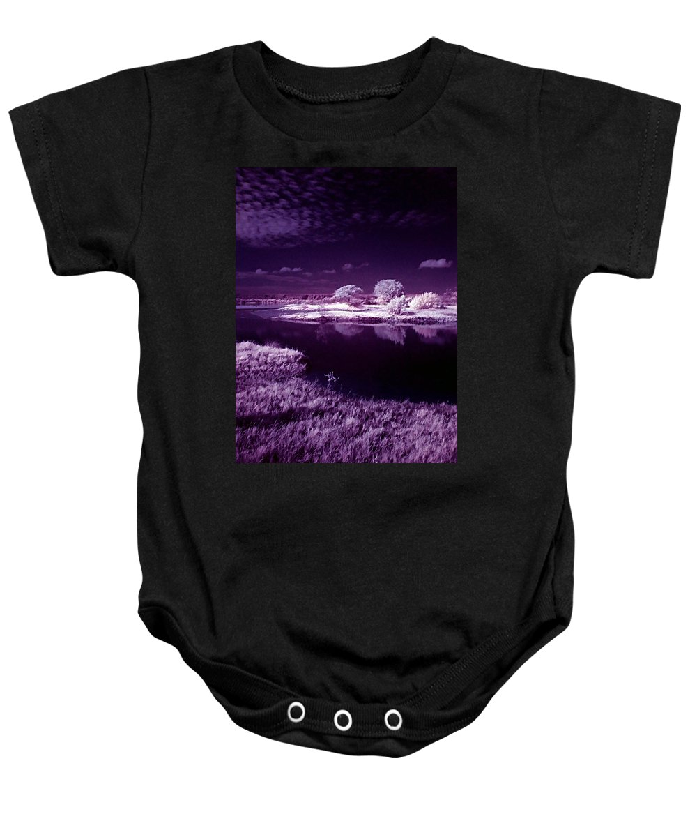 Infrared Baby Onesie featuring the photograph Cold Landscape by Galeria Trompiz