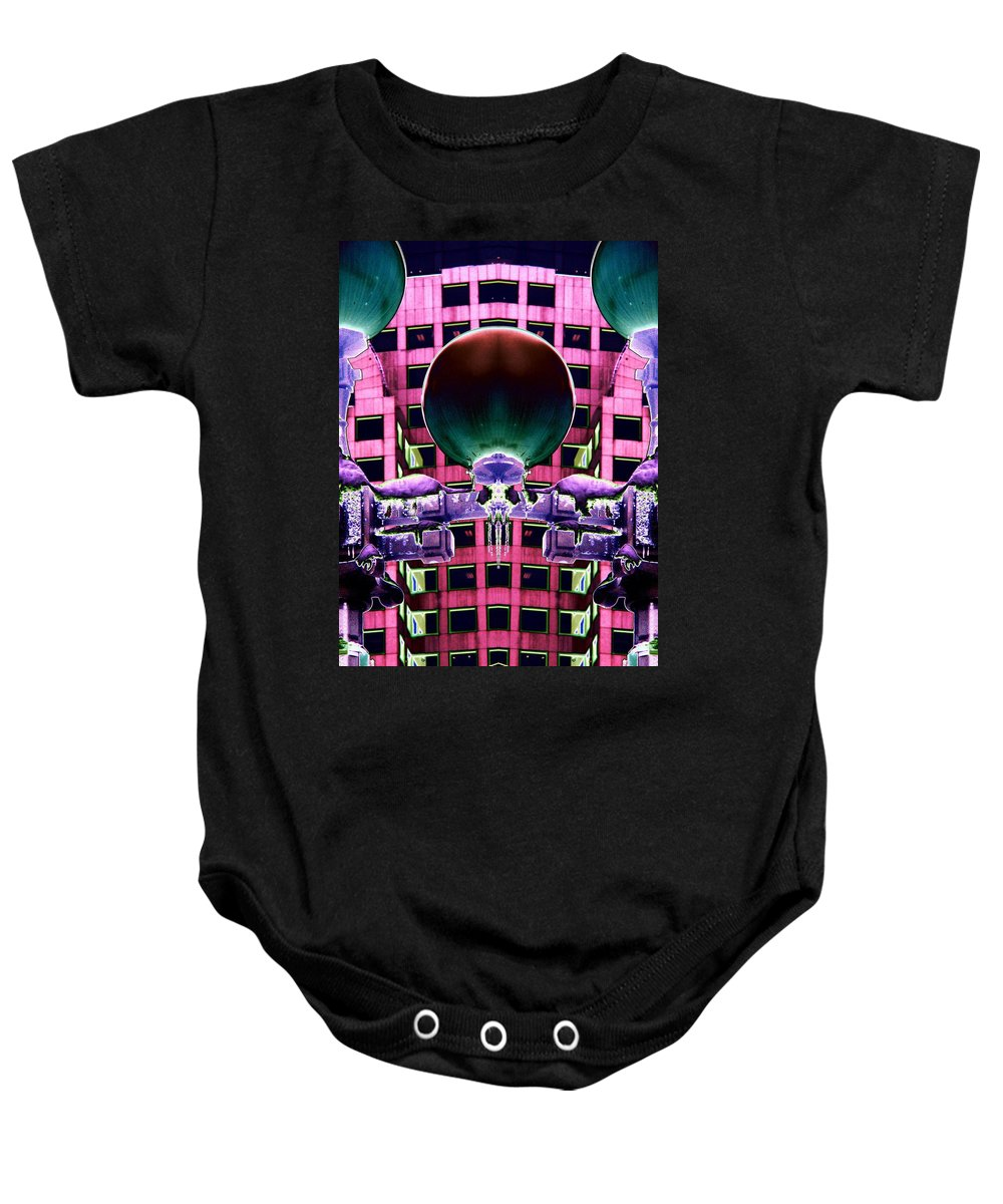 Lights Baby Onesie featuring the photograph Cold Lights by Tim Allen