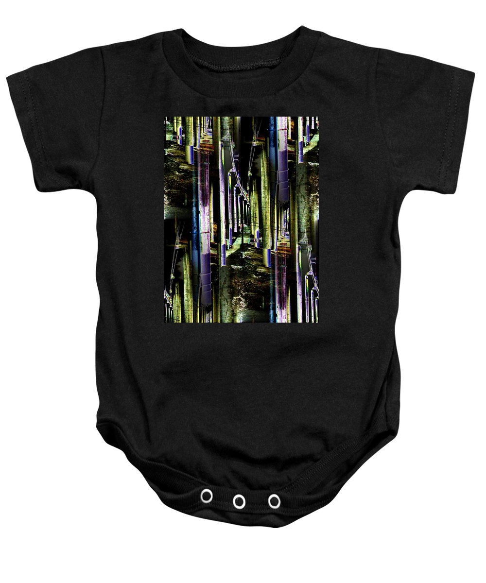 Seattle Baby Onesie featuring the photograph Collonade Park by Tim Allen