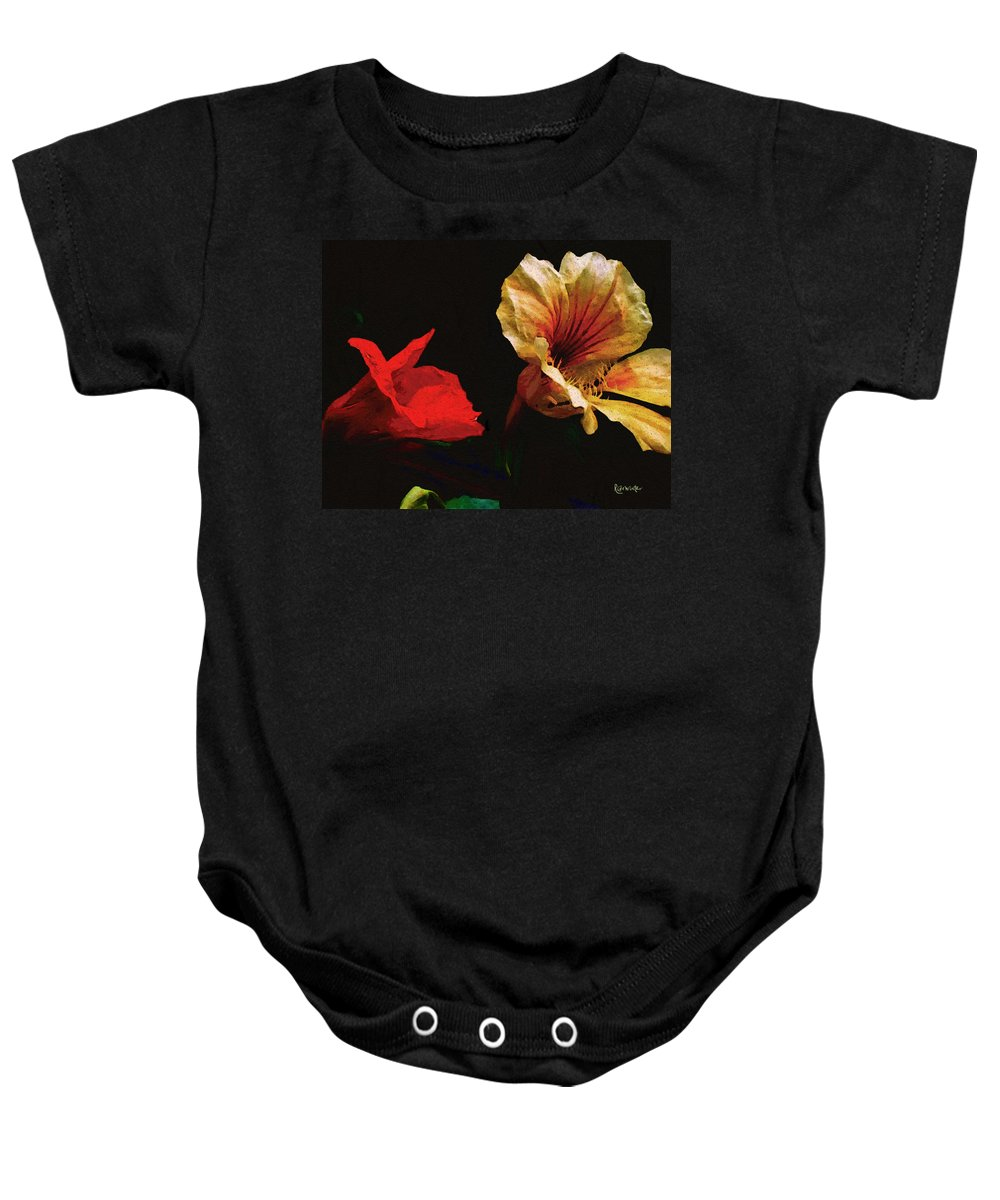 Flowers Baby Onesie featuring the painting Color And Light Suspended by RC DeWinter