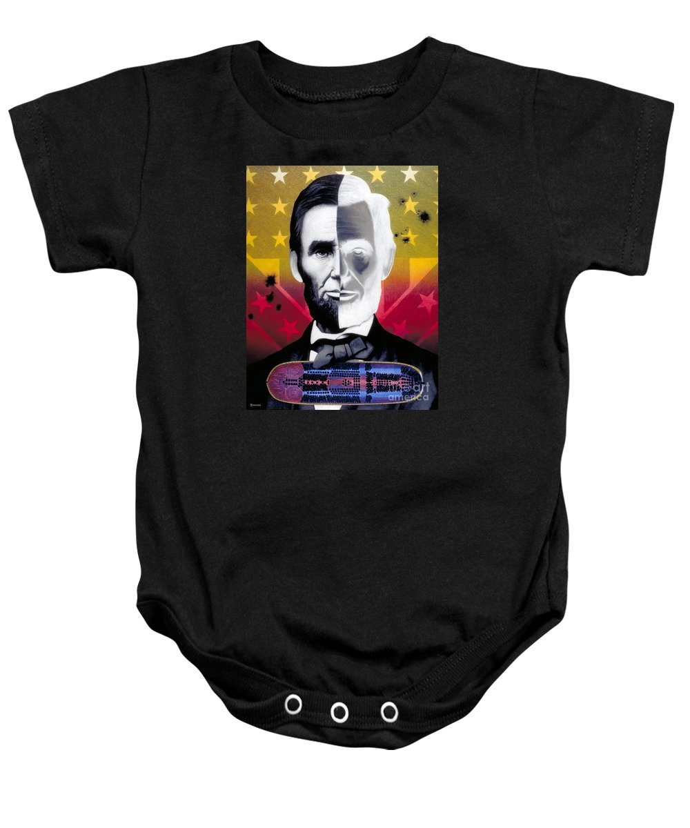 Civil War Baby Onesie featuring the painting Color In Black And White by Ross Edwards