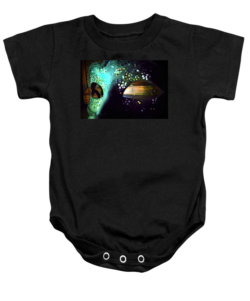 Masquerade Baby Onesie featuring the photograph Color Masquerade by Stephanie Haertling