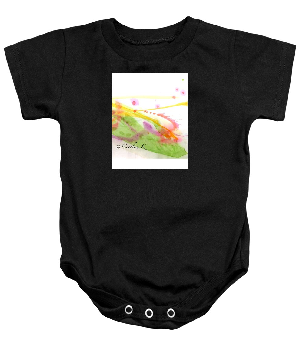 Colorful Baby Onesie featuring the mixed media Color Of Dance Japan by Kaoru Saito