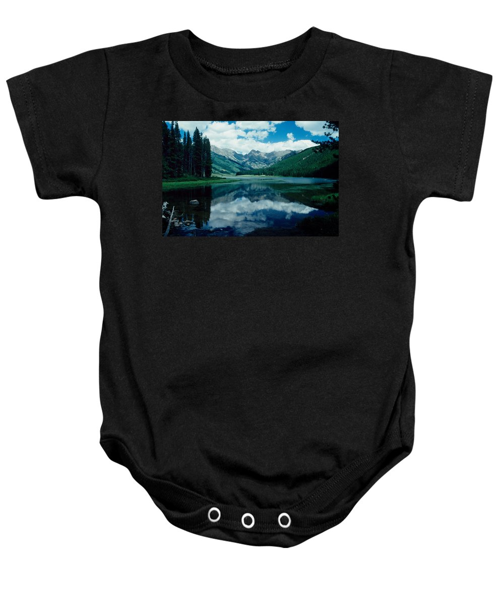 Rockie Mountains Baby Onesie featuring the photograph Colorado Lake by David Arment
