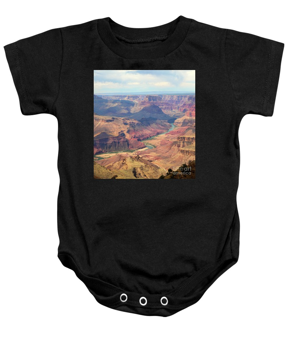 Grand Canyon Baby Onesie featuring the photograph Colorado River Grand Canyon by Chuck Kuhn