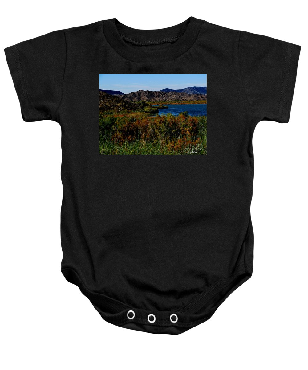 Patzer Baby Onesie featuring the photograph Colorado River by Greg Patzer