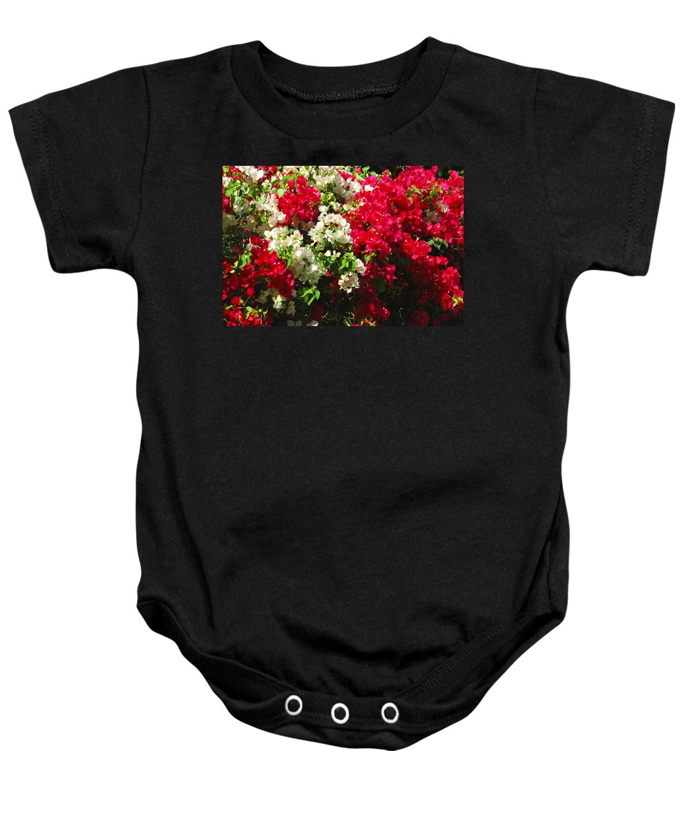 Bougainvilleas Baby Onesie featuring the photograph Colorful Bougainvilleas by Susanne Van Hulst
