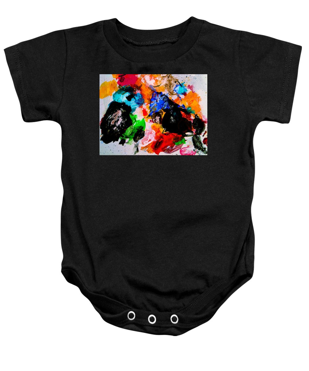 Abstract Baby Onesie featuring the painting Colorful Expression 13 by Natalie Holland