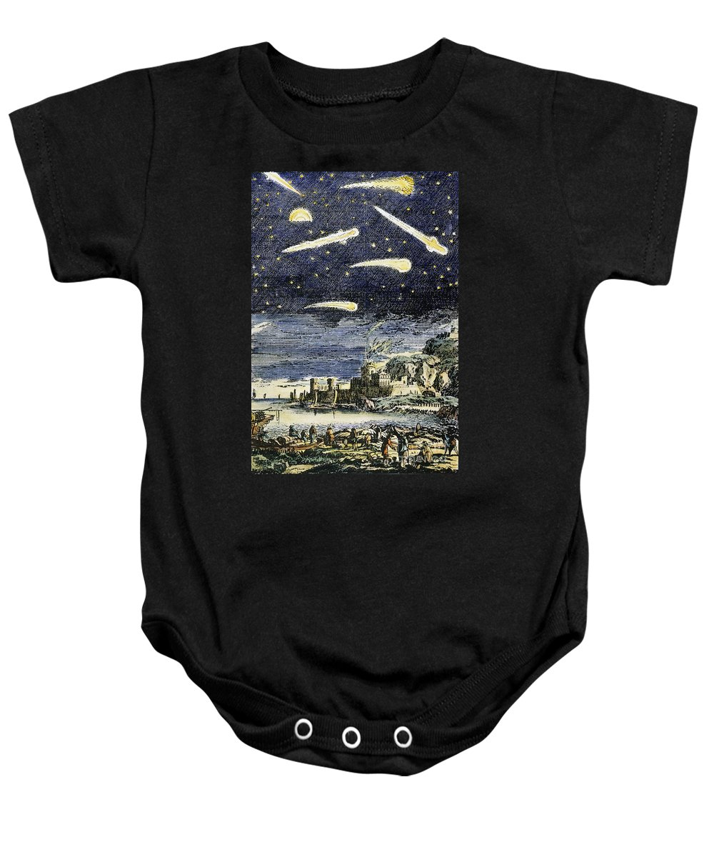 Comet Baby Onesie featuring the photograph Comets by Granger