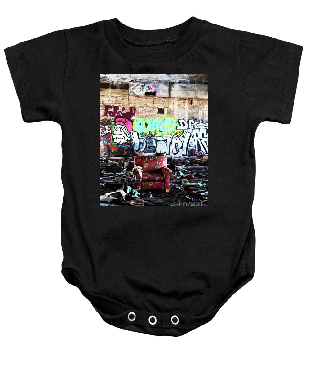 Landscape Baby Onesie featuring the photograph Comfy In The Rumble by Kristen Sanders