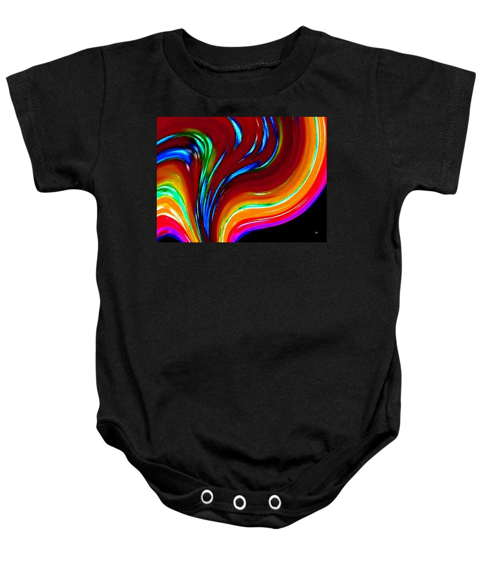 Abstract Baby Onesie featuring the digital art Conceptual 10 by Will Borden