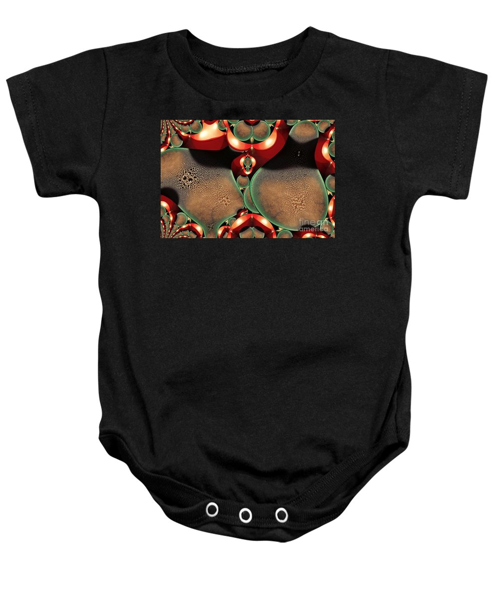 Digital Painting Baby Onesie featuring the digital art Condensation by Ron Bissett