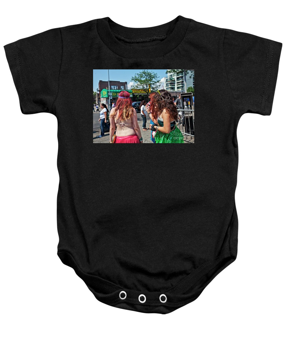 Coney Island Baby Onesie featuring the photograph Coney Island Girls by Madeline Ellis