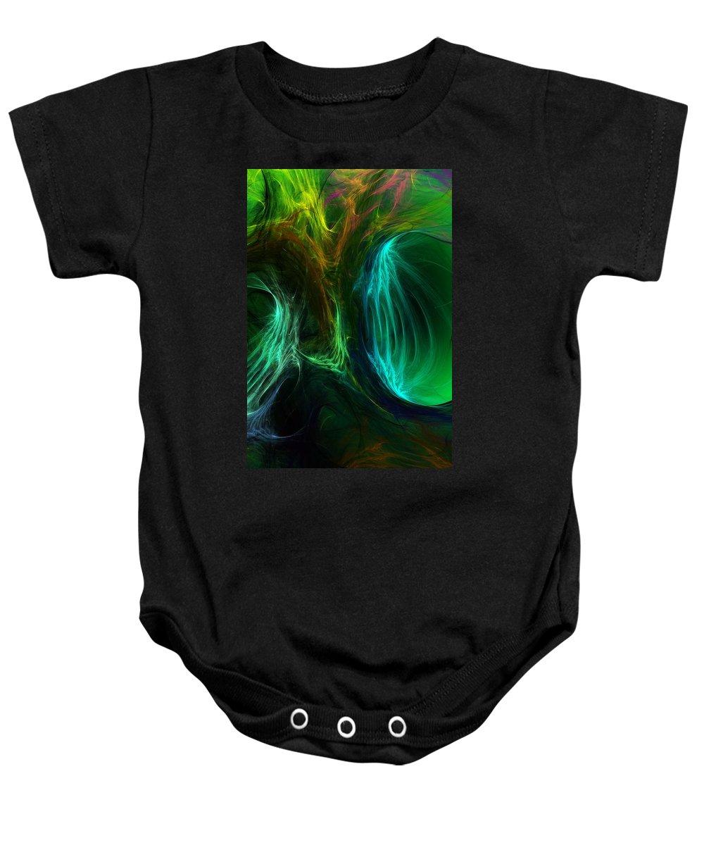 Digital Painting Baby Onesie featuring the digital art Congress by David Lane