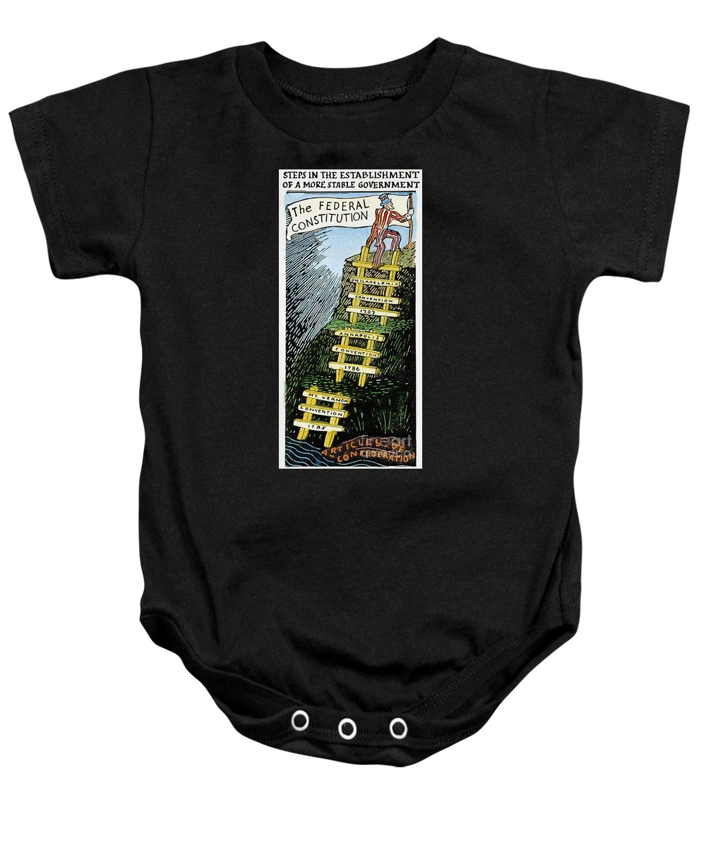 1787 Baby Onesie featuring the photograph Constitution Cartoon by Granger