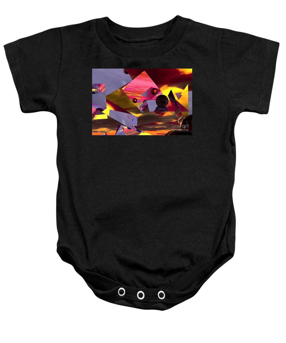 Baby Onesie featuring the digital art Contemplating The Multiverse. by David Lane