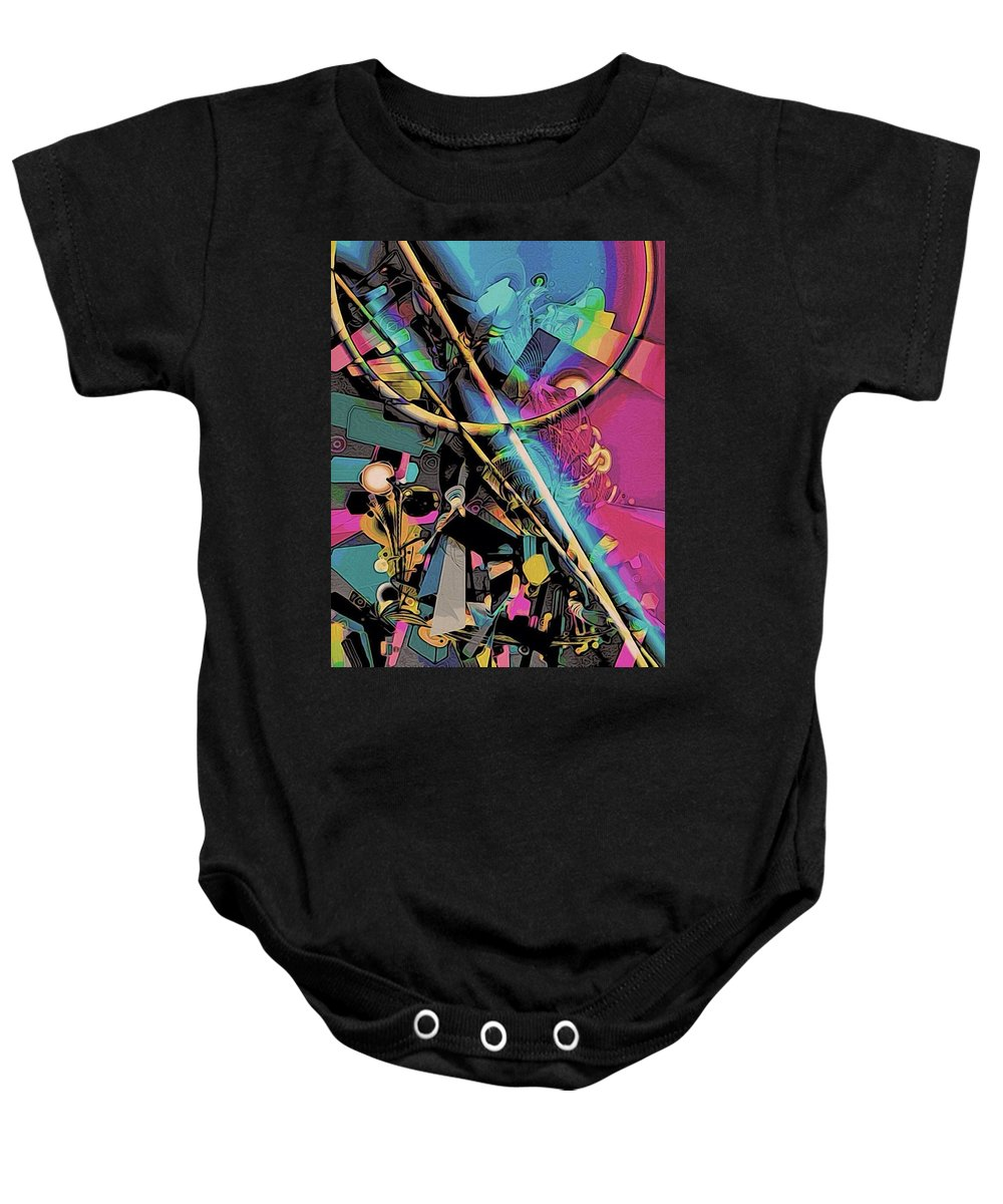 Drawing Baby Onesie featuring the digital art Contrive by Johanna G