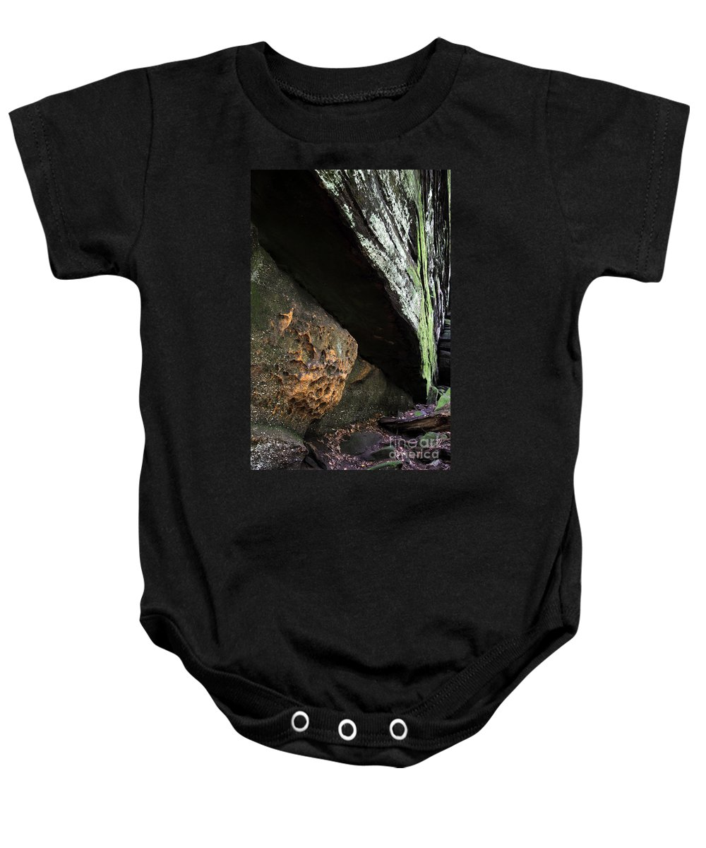 Rocks Baby Onesie featuring the photograph Convergence by Amanda Barcon