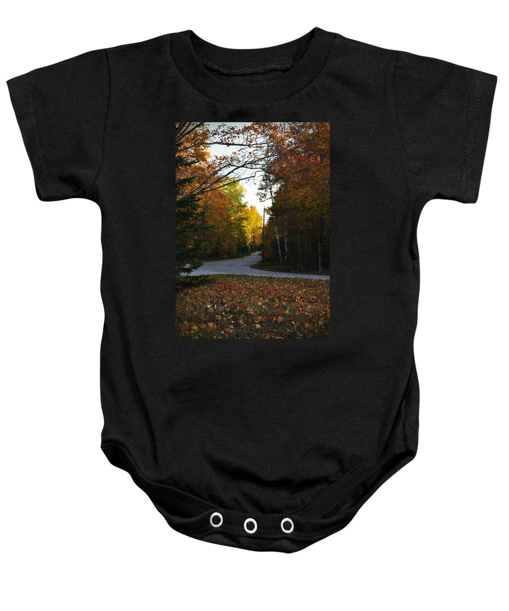 Fall Baby Onesie featuring the photograph Convergence by Tim Nyberg