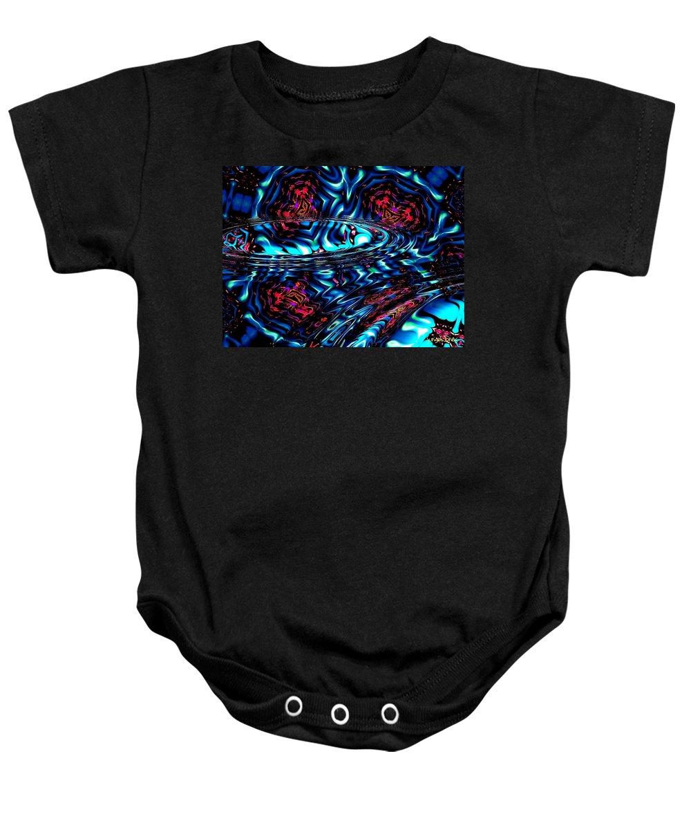 Abstract Baby Onesie featuring the digital art Cool Water by Robert Orinski