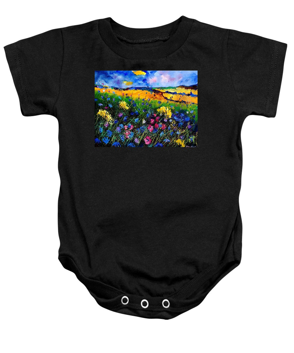 Flowers Baby Onesie featuring the painting Cornflowers 680808 by Pol Ledent